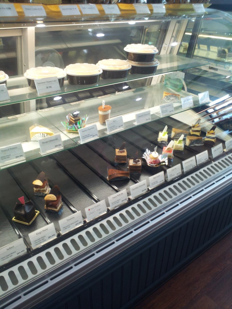 japanese cake display