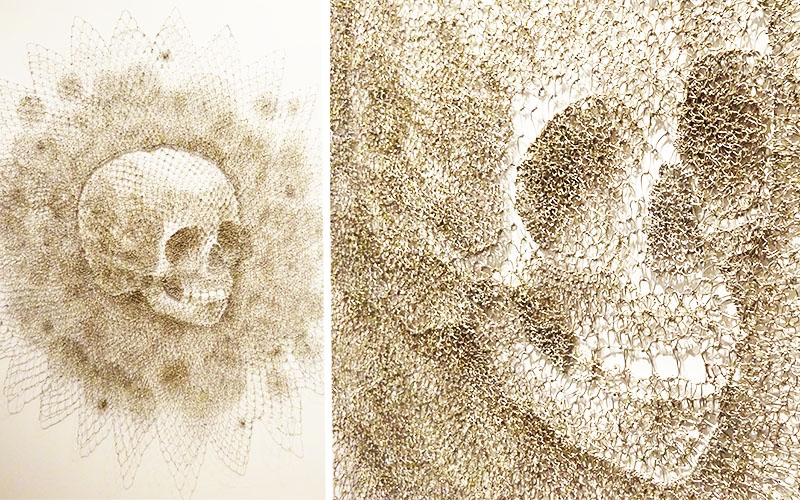 chain link skull