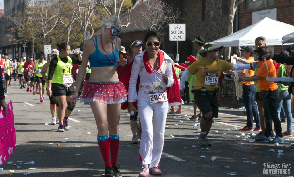 LA Marathon Fairy and Elvis