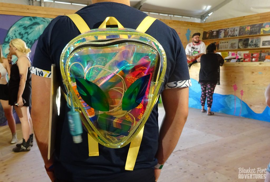 Alien Backpack to hold all your Festival must haves