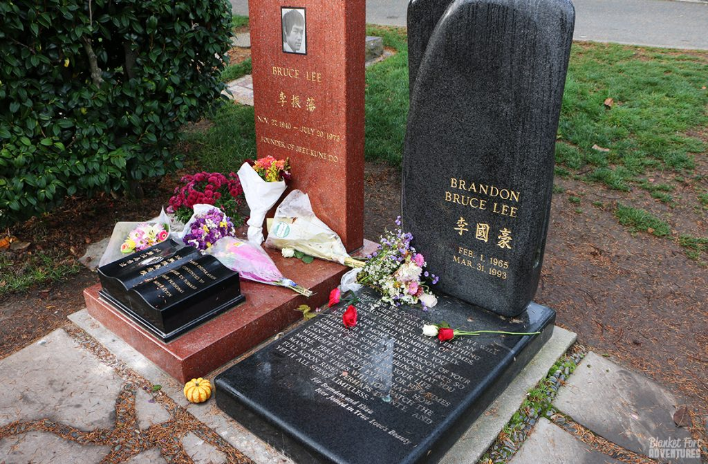 Bruce and Brandon Lee Gravestones _ Pop Culture Seattle