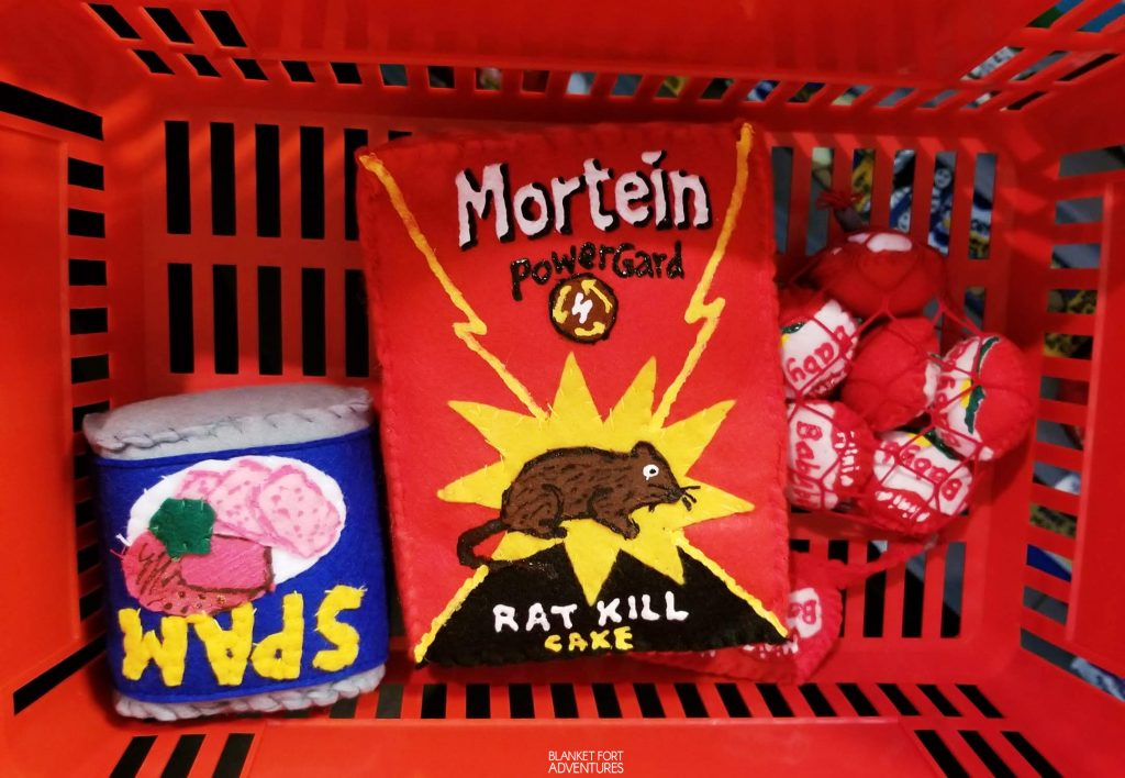 Sparrow Mart - spam, rat poison, babybells | blanket fort adventures